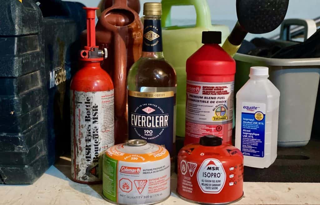 Storing Camp Stove Fuel