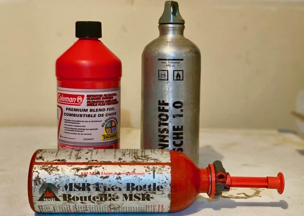 white gas canister